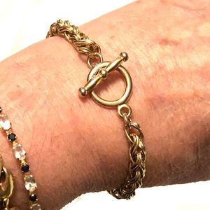 Vintage gold plated over sterling silver bracelet